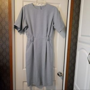 Vintage 70's? Blue White Gingham Sheath Dress